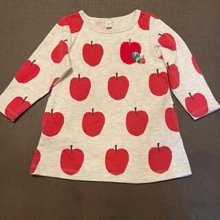 Design Tshirts Store graniph - はらぺこあおむし ワンピース チュニック  グラニフ 林檎柄