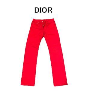 Dior - Dior ディオール パンツ 赤 レッド