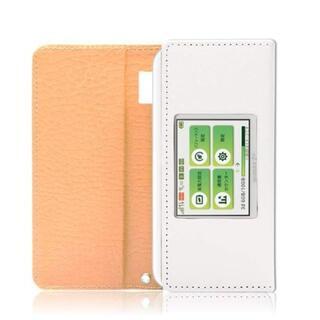 らん子様【g6】UQ WiMAX W06 ケース (ホワイト)(モバイルケース/カバー)