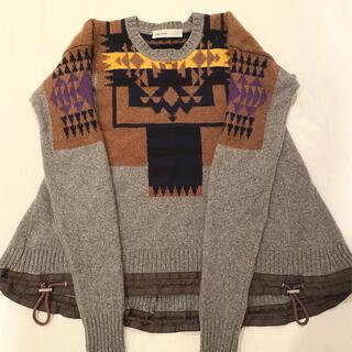 サカイ(sacai)のsacai luck ドローコードフレアニット2(ニット/セーター)