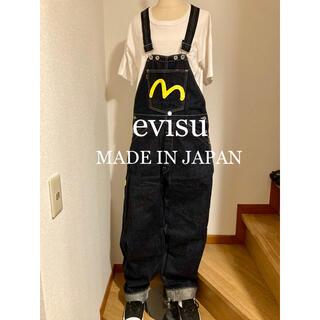 EVISU - 美品!evisu デニムオーバーオール!日本製!
