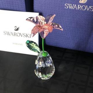 SWAROVSKI - 新品未使用 SWAROVSKI スワロフスキー 置物 花 ユリ