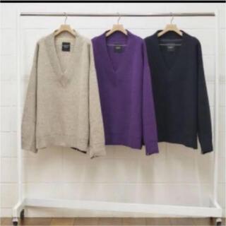 アンユーズド(UNUSED)のV-neck knit アンユーズド 18aw 3 BLACK(ニット/セーター)
