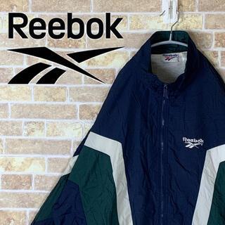 リーボック(Reebok)の送料無料!! リーボック 刺繍ロゴ ゆるだぼ 90s ナイロンジャケット 人気(ナイロンジャケット)