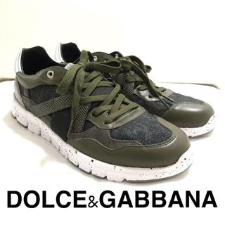 DOLCE&GABBANA - ドルチェ&ガッバーナ スニーカー 試着のみ美品 ミリタリー柄 サイズ:6