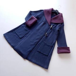 EPOCA - ■エポカ■ 38 ボルドー 濃紺 Aラインコート