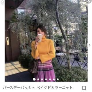 ZARA - birthdaybash  ベイクドカラーニット 黄色イエロー