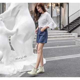 韓国 滑り止め オーバーシューズ 防水性 靴 女性用 アクアシューズ(レインブーツ/長靴)