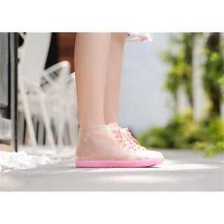 可愛い 短い筒 滑り止めの靴 水靴 カジュアル レインシューズ(レインブーツ/長靴)