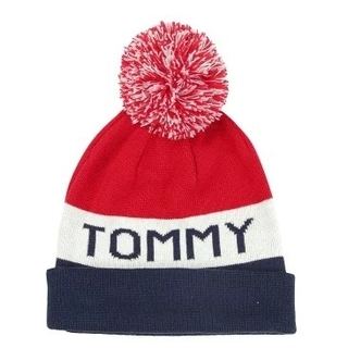 TOMMY HILFIGER - TOMMY HILFIGER ニット帽 ネイビーブレザー