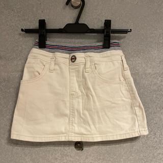 エドウィン(EDWIN)のEDWIN デニムスカート 白 130(スカート)