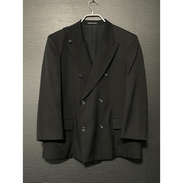 Yohji Yamamoto(ヨウジヤマモト)のヨウジヤマモトプールオム ウールギャバ ダブルジャケット メンズのジャケット/アウター(テーラードジャケット)の商品写真