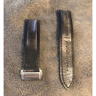 ハミルトン(Hamilton)の未使用品ハミルトンレザーストラップ22mm(レザーベルト)