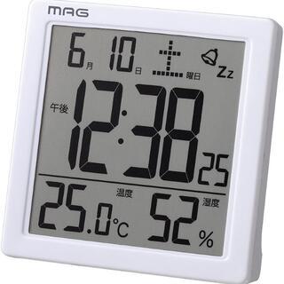 目覚まし 時計 デジタル 温度 湿度 カレンダー表示  240
