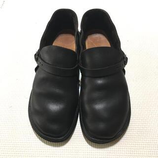 オーロラシューズ ミドルイングリッシュ ブラック(ローファー/革靴)