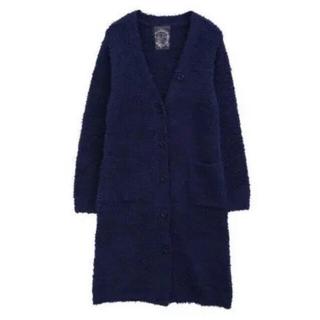 可愛い♡暖か♡ もこもこパジャマ ワンピース ルームウエア Mサイズ ネイビー(ルームウェア)