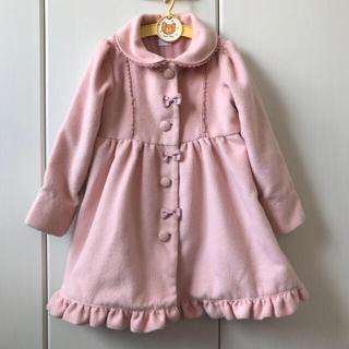 アクシーズファム(axes femme)の美品アクシーズファム女の子120コート.ピンク.リボン組曲エニィファム(コート)