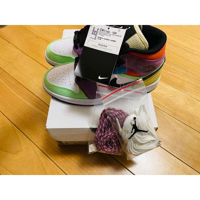 NIKE(ナイキ)のウィメンズ エア ジョーダン1 MID 23cm レディースの靴/シューズ(スニーカー)の商品写真