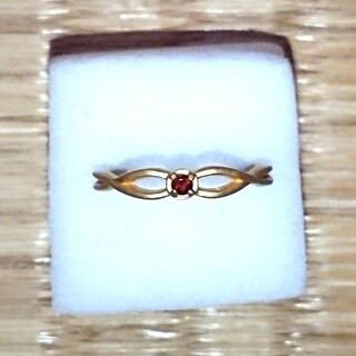 天然石リング 9号 ガーネット(リング(指輪))