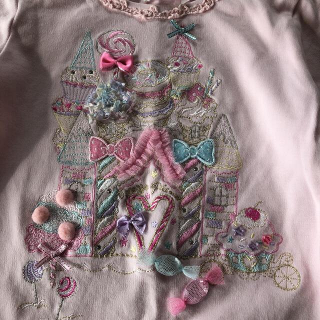 mezzo piano(メゾピアノ)のメゾピアノ ピンク カットソー キッズ/ベビー/マタニティのキッズ服女の子用(90cm~)(Tシャツ/カットソー)の商品写真