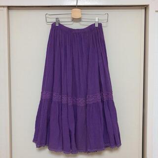 サンタモニカ(Santa Monica)のヴィンテージ  紫のスカート(ロングスカート)