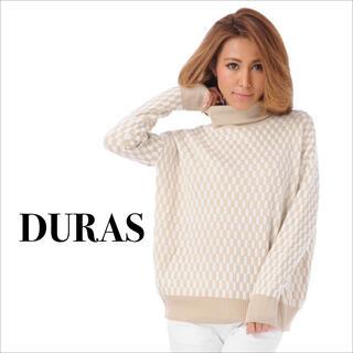 デュラス(DURAS)のDURAS 新品 チェッカー タートル ニット*リゼクシー ロイヤルパーティー(ニット/セーター)