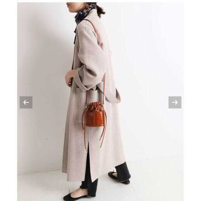 IENA SLOBE(イエナスローブ)のHAMILTON ダブルフェイスウールロングコート 新品 レディースのジャケット/アウター(ロングコート)の商品写真