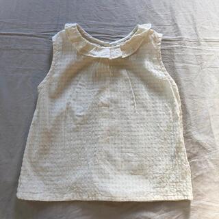 キャラメルベビー&チャイルド(Caramel baby&child )の美品♡ハンドメイド フリル襟ブラウス(ブラウス)