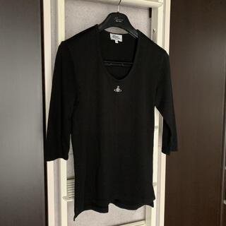ヴィヴィアンウエストウッド(Vivienne Westwood)の☆ヴィヴィアンウエストウッド 7分丈 カットソー Tシャツ 黒 S☆(Tシャツ/カットソー(七分/長袖))