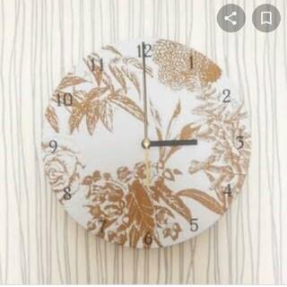 フランフラン(Francfranc)のpeko様専用 ボタニカルクロック(掛時計/柱時計)
