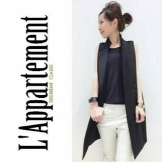 DEUXIEME CLASSE - 美品 L'Appartment購入 Lisiereロングベスト ブラック