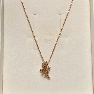 Disney - k10 ティンカーベル ダイヤ付き ネックレス