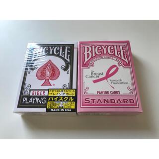 BICYCLE ブラック ピンクリボン 未開封 セット(トランプ/UNO)