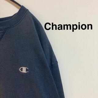 Champion - チャンピオン スウェット 古着 ビッグサイズ ネイビー