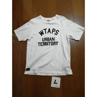 ダブルタップス(W)taps)のWTAPS  サイズL  ロゴT 白 (Tシャツ/カットソー(半袖/袖なし))