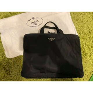 PRADA - PRADA ビジネスバッグ パソコンケース ナイロン 黒 イタリアで購入 袋付き