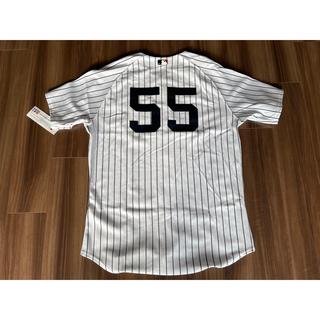 マジェスティック(Majestic)の松井秀喜 2009 ヤンキース  #55 オーセンティックユニ 未着用タグ付き(ウェア)