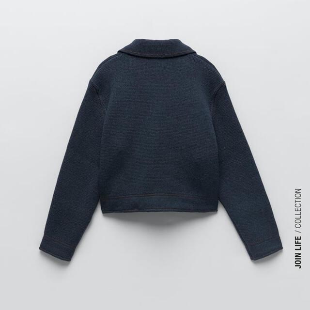 ZARA(ザラ)のZARA ニットジャケット 未使用 レディースのトップス(ニット/セーター)の商品写真