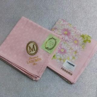 LADUREE - ラデュレ&レノマ☆大判ハンカチ2枚セット