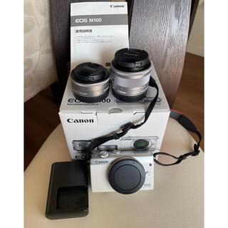 Canon - 【ほぼ新品✨】Canon EOS M100 ダブルレンズキット