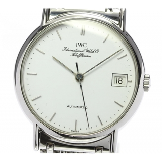 インターナショナルウォッチカンパニー(IWC)のIWC ポートフィノ 白文字盤 IW351318 自動巻き メンズ 【中古】(腕時計(アナログ))