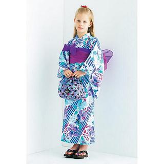 ANNA SUI mini - 新品 アナスイミニ オリジナルストライプ×花柄 2WAY浴衣 110