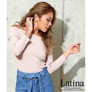 アナップラティーナ(ANAP Latina)のanap Latina リブニット オフショルダー タイト トップス F(ニット/セーター)