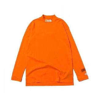 ヒューレットパッカード(HP)のヘロンプレストン オレンジ モックネックシャツ (Tシャツ/カットソー(七分/長袖))