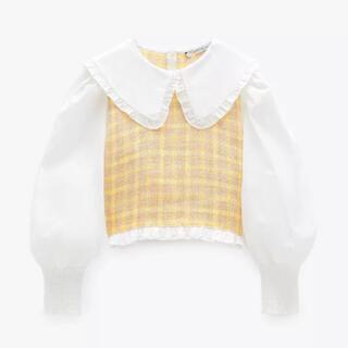 ZARA - ZARA 韓国ファッション snidelスナイデル イエロー チェック ブラウス