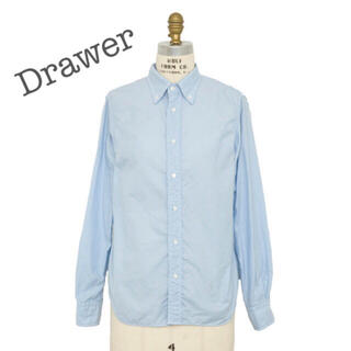 Drawer - Drawer オックスフォードレギュラーシャツ 38 ライトブルー