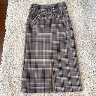 トゥモローランド(TOMORROWLAND)のトゥモローランド チェックタイトスカート(ひざ丈スカート)