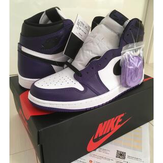 NIKE - 【鑑定済】AIR JORDAN1 OG court purple 27.5㎝