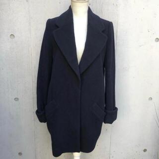 ルシェルブルー(LE CIEL BLEU)のルシェルブルー ネイビー 濃紺 コクーン  チェスター コート(ロングコート)