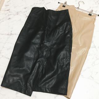 ZARA - レザー膝丈スカート